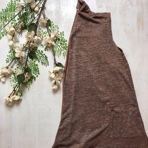 LOGO Lori Goldstein Space Dye Knit Vest Small